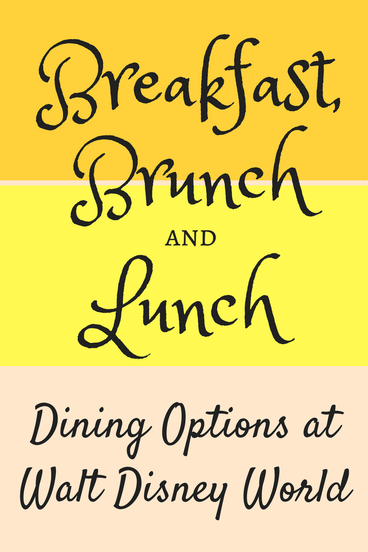 New Disney World Breakfast, Brunch and Lunch Options