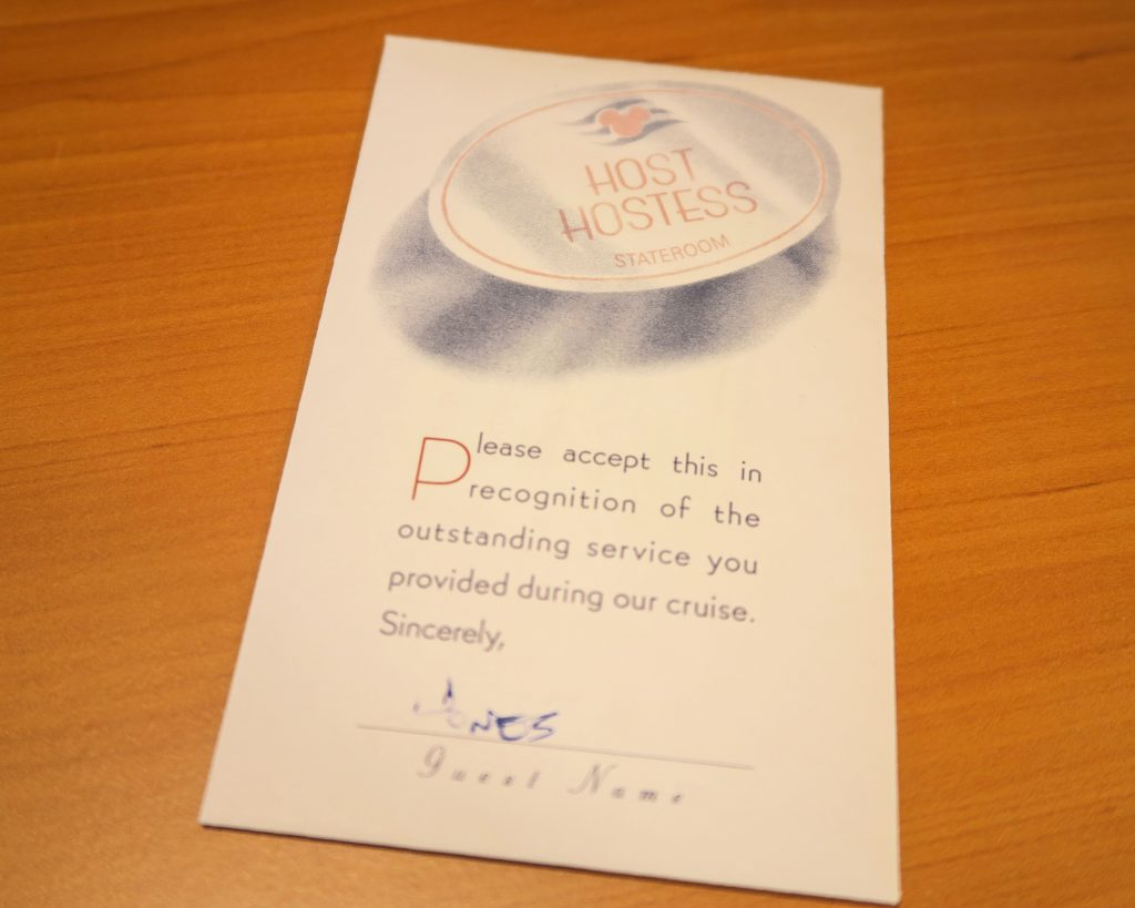 Disney Cruise Tipping Guide Tip Envelopes